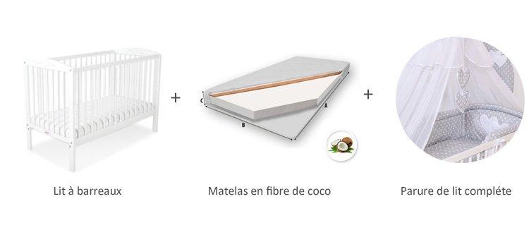 lit à barreaux gris pour bebe